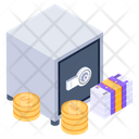 Bank Locker Safe Box Money Vault Icon