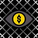 Dollar View Eye Icon