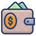 Money Wallet Purse Card Holder Icon