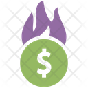 Money Waste Money Loss Business Fall Icon
