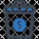 Capital Money Waste Icon