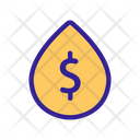 Waterdrop Contour Cost Icon