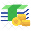 Money With Coins Icon