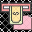 Money Withdraw Atm Cash Icon