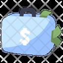 Suitcase Money Business Icon