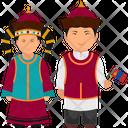 Mongolian Dress Mongoliann Outfit Mongoliann Clothing Icon