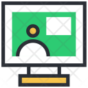 Monitor Video Call Icon