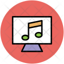Monitor Screen Musical Icon