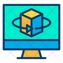 Device Cube Virtual Screen Icon