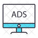 Monitor Online Advertising Online Promotion Icon