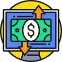 Online Payment Monitor Dollar Payment Icon