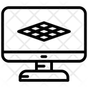 Monitor Vertical Grid Grid Icon