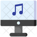 Monitor Online Music Audio Player Icon