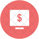 Monitor Screen Dollar Icon
