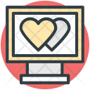 Monitor Hearts Sign Icon