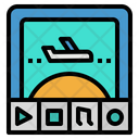 Monitor Plane Transportation Icon
