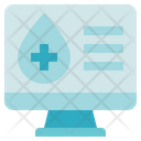 Blood Donation Medical Monitor Icon