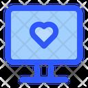 Monitor Love Heart Icon