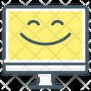 Monitor Emotion Cheerful Icon