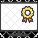 Monitor Computer Ribbon Badge Icon