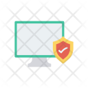 Monitor Secure Protection Icon