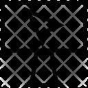 Monitor Lcd Plane Icon