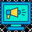 Monitor Ads Digital Marketing Digital Advertising Icon