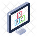 Monitor Letters Monitor Alphabets Basic Learning Icon