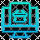 Monitor  Basket Icon