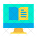 Monitor Book Icon