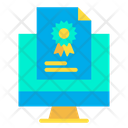 Monitor Certificate Icon