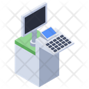 Monitor Desk Icon