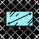Diagonal Computer Monitor Icon