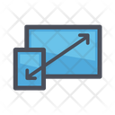 Monitor enlarge Size Icon
