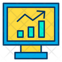 Monitor Graph Web Analysis Online Monitoring System Icon