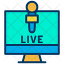 Online News Live News Monitor Icon