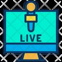 Monitor Live Icon