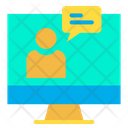 Monitor Online Chat Icon