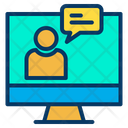 Online Chat Chat Bubble Monitor Icon