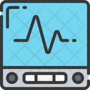 Heart Rate Monitor Screen Health Care Icon
