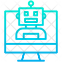 Monitor Robot Icon