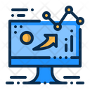 Business Monitor Sales Icon