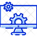 Monitor Cog Wheels Control Icon