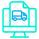 Monitor Truck Icon
