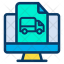 Monitor Truck Delivery Icon