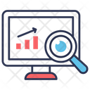Monitoring Analysis Research Icon