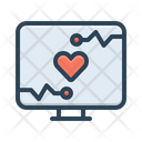 Monitoring Computer Heart Icon