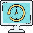 Monitoring Around The Clock Clock Icon