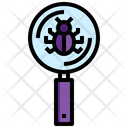 Search Bug Monitoring Research Icon