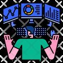 Monitoring Monitor Screen Icon